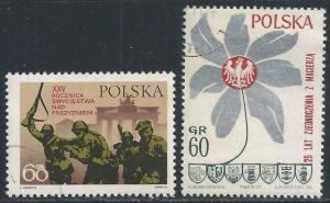 Poland # 1736-37 ~ Cplt Set of 2 ~ CTO, NH, GL ~ cv .40