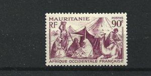 MAURITANIA  1938 - 40  90C  PURPLE      MH