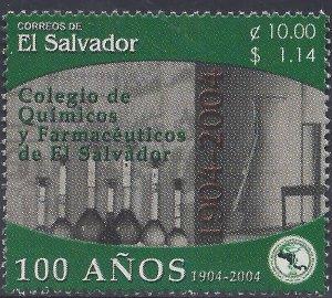 EL SALVADOR COLLEGE of CHEMISTRY & PHARMACEUTICALS Sc 1602 MNH 2004