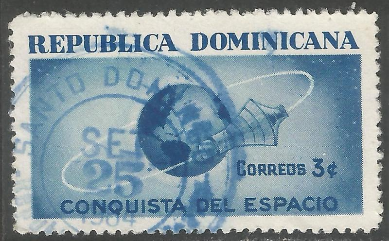 DOMINICAN REPUBLIC 600 VFU SPACE Z2279-1