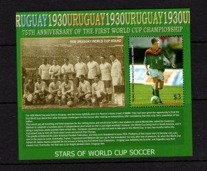Tuvalu  #975 (2005 75th anniversary of World Cup Soccer sheet) VFMH CV $5.25