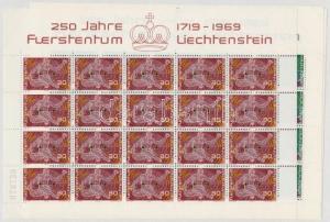 Liechtenstein stamp Liechtenstein minisheet set MNH 1969 Mi 508-511 WS149758