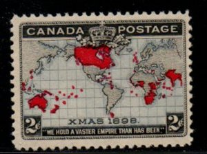 Canada Sc 85 1898 2 cent Christmas Map stamp mint NH