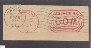 Germany: INFLATION ERA Meter Stamp April 1923 cnl Urbana Ill