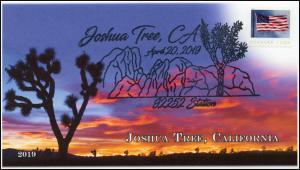 19-082, 2019, Joshua Tree, Pictorial Postmark, Event Cover, National Park