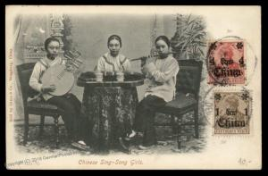 Germany 1911 China CANTON Cover Chinese Girl Band Friderica Denmark 89219