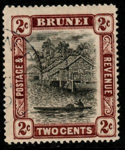 BRUNEI SG36 1911 2c BLACK & BROWN FINE USED