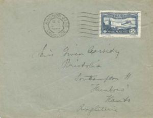 France 1.50F Plane Over Marseille 1933 Avignon Gare, Vaucluse to Southampton,...