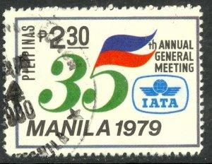 PHILIPPINES 1979 2.30p IATA Anniversary Issue Sc 1442 VFU