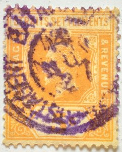 Malaya Straits Settlements 1921 KGV 5c SG225 Nederlands Indies BATAVIA Postagent