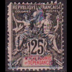 NEW CALEDONIA 1903 - Scott# 75 Goddess Opt. 25c NH