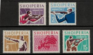Albania Stamp Set Scott #809 To 813 (809-13), Mint Never Hinged MNH - Free U....