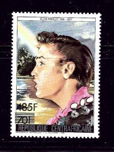 Central Africa 851 MNH 1987 Elvis Presley Surcharge
