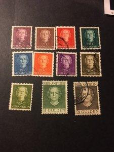 Netherlands Antilles sc 214-219,222,224-227 uhr