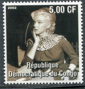 Congo 2002 Marilyn Monroe Set 1 value Perforated Mint (NH)