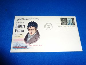 FLEUGEL MULTI COLORED CACHET FDC:  US SCOTT#  1270
