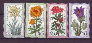 J25194 JLstamps 1975 germany set mnh #b521-4 flowers