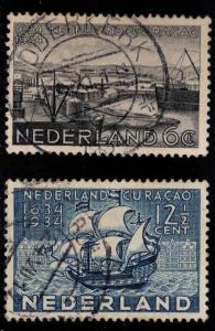 Netherlands Scott 202-203 Used Curacaol stamp set