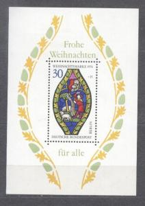 Germany Bundes 1976 Religion Christmas perf. sheet MNH S.577