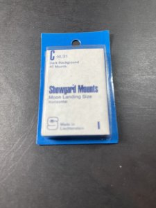 SHOWGUARD MOUNTS-C---50 x 31---PRE-CUT--40 PACK--DARK BACKGROUND--NEW-OLD STOCK