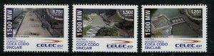 HERRICKSTAMP NEW ISSUES ECUADOR Sc.# 2183-85 Celec Ep, Coca Codo Sinclair