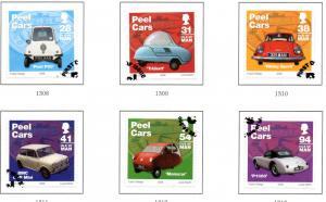 Isle of Man Sc 1157-62 2006 Peel Cars stamp set used