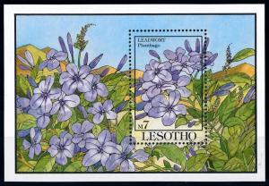 [67359] Lesotho 1993 Flora Flowers Blumen Souvenir Sheet MNH