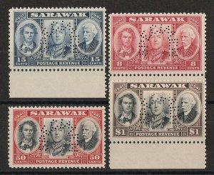 SARAWAK 1946 Centenary set 8c-$1, SPECIMEN. MNH **.
