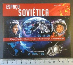 St Thomas 2015 soviet space gagarin tereshkova voskhod leonov women flags