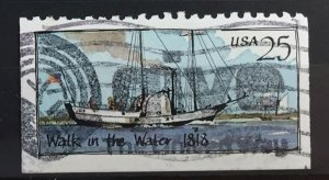 US #2409 Used F/VF - Walk in the Water 1818 25c