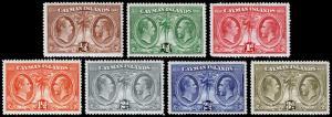 Cayman Islands Scott 69-75 (1932) Mint H F-VF, CV $26.65 M