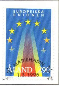 Aland Sc 113 1995 European Union Entry stamp used