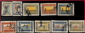 94752  - AZERBAIJAN  -  STAMPS - Michel # 1/10   IMPERF STAMPS - USED
