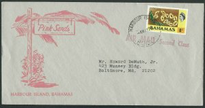 BAHAMAS 1977 cover to USA HARBOUR ISLAND cds..............................56589