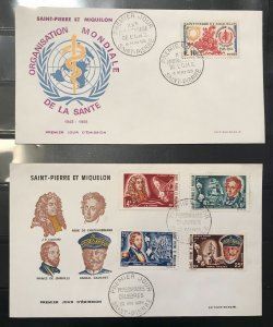 Saint-Pierre et Miquelon -- 11 covers Collection with Nice Cancel - HIGH VALUE