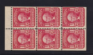 319g Booklet Pane VF OG never hinged with nice color cv $ 240 ! see pic !