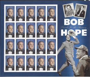 United States, 4406, 44c Bob Hope Sht(20),**MNH**