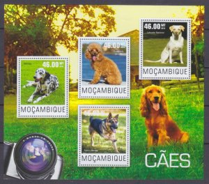 2014 Mozambique 7620-7623KL Dogs 10,00 €