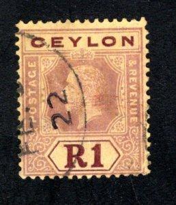 Ceylon #210, F/ VF, Used,  CV $4.25 ....  1290177