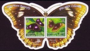 Pitcairn Blue Moon Butterfly Shaped MS SG#MS687 MI#Block 39
