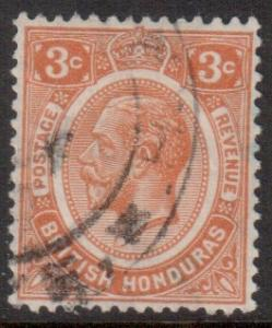 Br Honduras Scott 95 - SG129, 1922 George V 3c used
