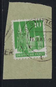 Germany AM Post Scott # 641, used, opp