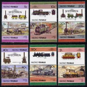Tuvalu - Niutao 1984 Locomotives #1 (Leaders of the World...