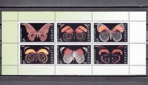 Udmurtia, 1998 Russian Local. Butterflies sheet of 6. ^