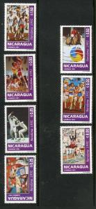 NICARAGUA 1926-1932 MNH SCV $5.00 BIN $2.50 SPORTS