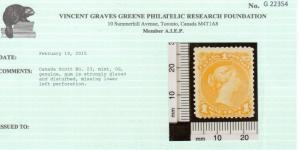 Canada #23 Mint **With Certificate**