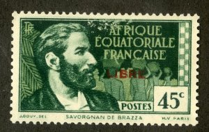 FRENCH EQUATORIAL AFRICA 95 MH SCV $4.00 BIN $1.75 PERSON