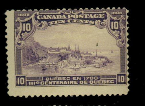 Canada #101 MINT Ave-Fine OG NH Cat$500