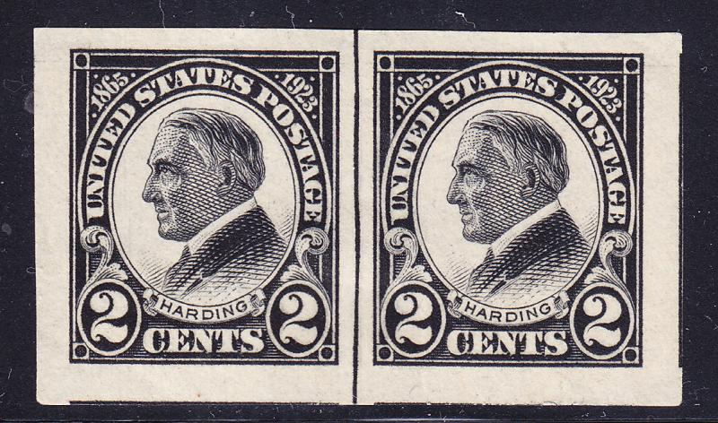 United States 1923 Harding memorial VF Line Pair Mint(*)