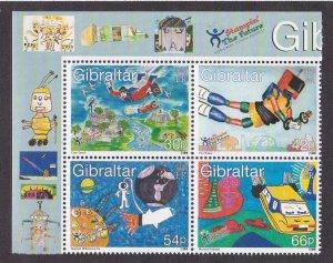 Gibraltar # 831a, Childrens Stamp Designs, NH, 1/2 Cat